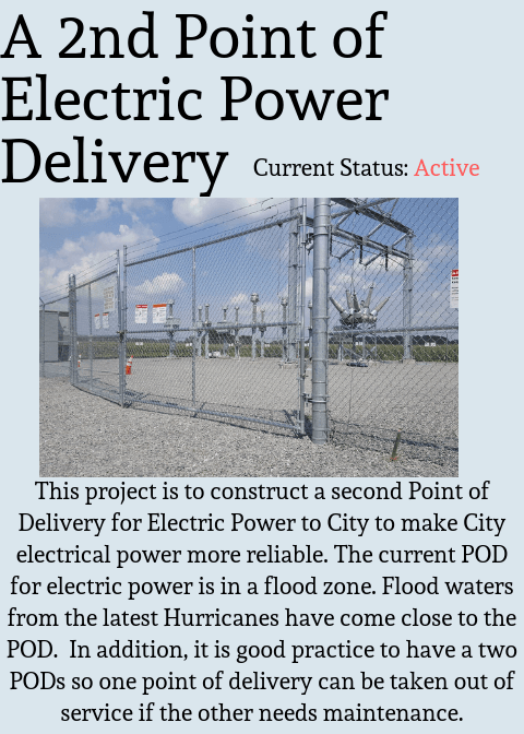 A 2nd Point of Electric Power Delivery