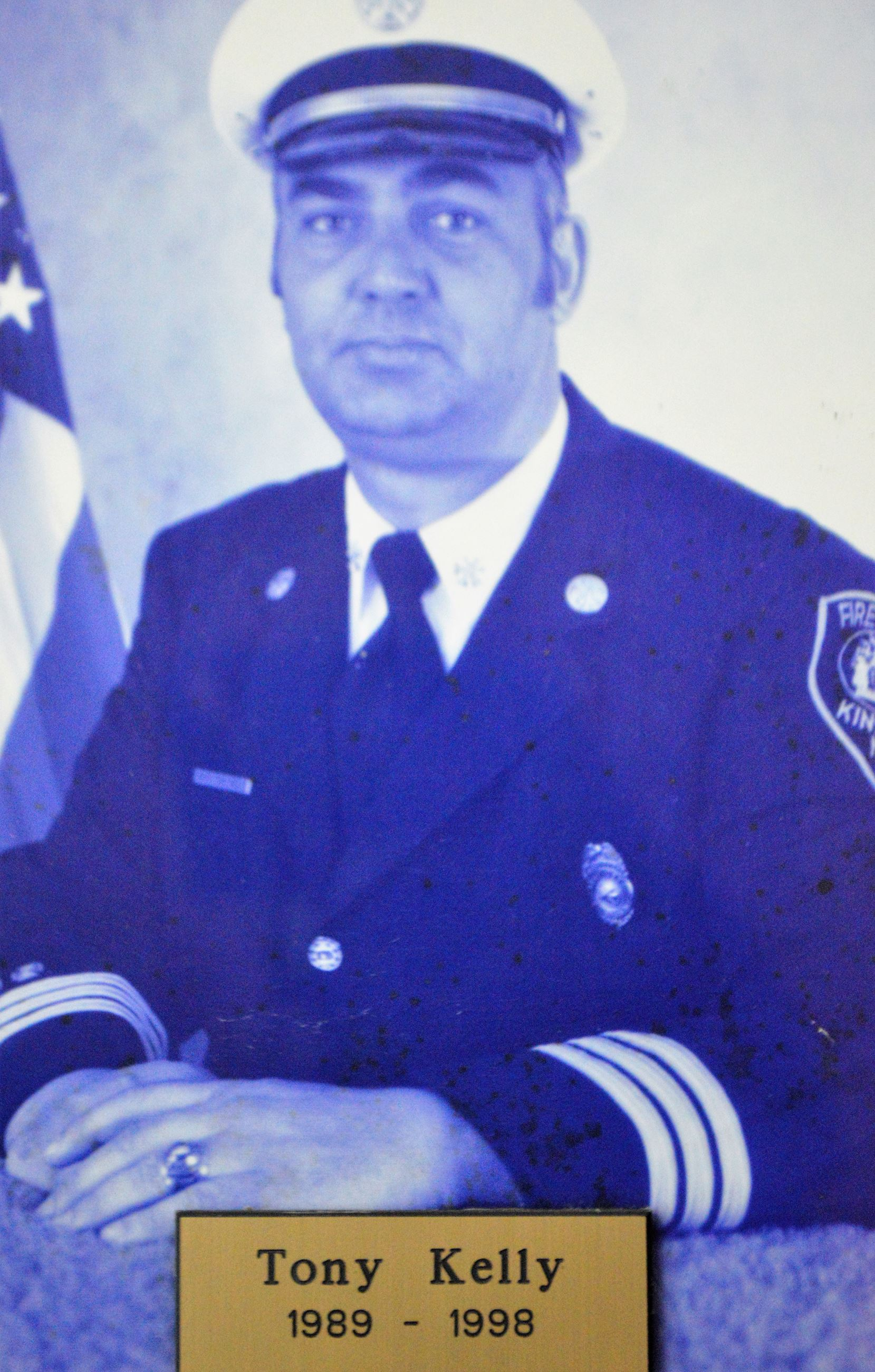 The Late Fire Chief Anthony Kelly Served from 1989 - 1998